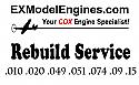 Cox .010 .020 .049 .051 .074 .09 .15 Engine Rebuild Service