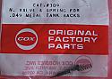 Cox .049 Babe Bee Needle & Spring (OEM)