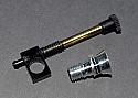 Cox .049 Tee Dee Needle Valve Body, Venturi, & Needle (Black)