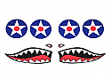 Cox .049 P-40 Warhawk Decal Set (Gas)