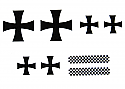 Cox .049 Fokker Tri-Plane Decal Set